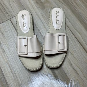 Splendid Simpson Leather Espadrille Slide Size 7.5